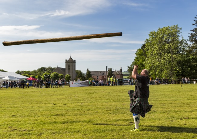 Tossing the Caber Highland Games