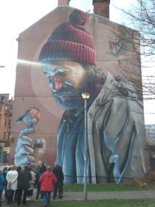 St Mungo mural in Glasgow
