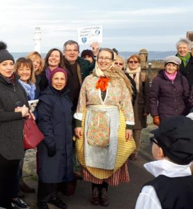 International Tourist Guides Day 2019 guides in Newhaven, Edinburgh