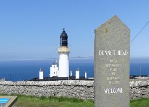 dunnet head lighthouse on north coast 500