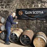 Glen Scotia whisky barrels