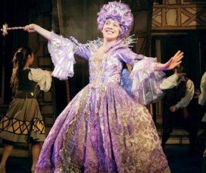 Karen Dunbar in pantomime costume LGBTQ+ Scotland