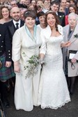 Marina Edwards-Scott wedding day LGBTQ+ Scotland