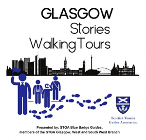 Glasgow stories walking tours flyer