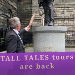 edinburgh tall tales walking tours are back